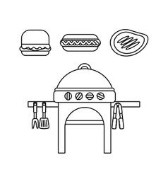 delicious bbq design vector image