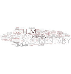 Documentary word cloud concept vector