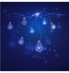 Energy saving concept blue lights vector
