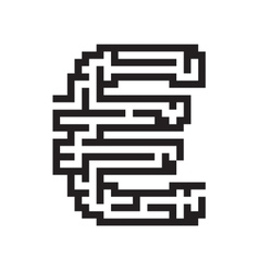 Euro business flat black maze vector image