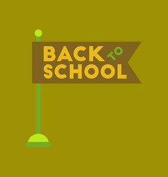 Flat icon on background back to school flag vector