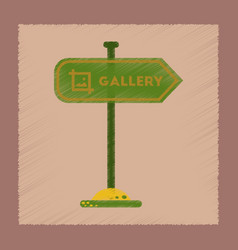 flat shading style icon sign gallery vector image