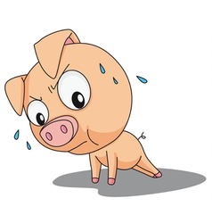 Funny pig vector image