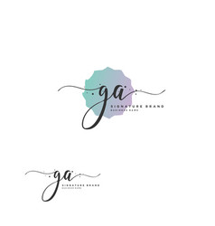 g a initial letter handwriting and signature logo vector image