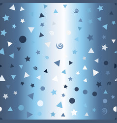 Glowing pattern with dots spirals stars vector