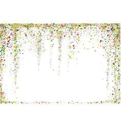 gold glitter confetti texture on a white vector image