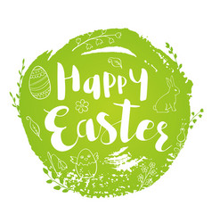 green abstract easter background vector image vector image