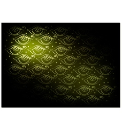 Green Vintage Wallpaper with Abstract Pattern vector image