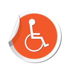 Handicap symbol orange tag vector