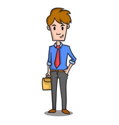 Happy businessman character design cartoon vector