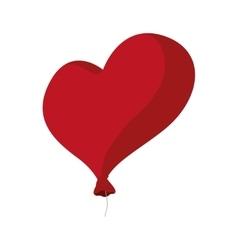 Heart balloon love red romantic icon vector