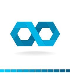 Hex infinity logo vector image vector image