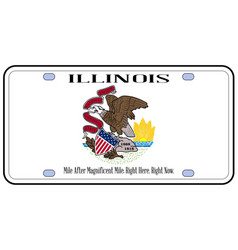 Illinois flag license plate vector