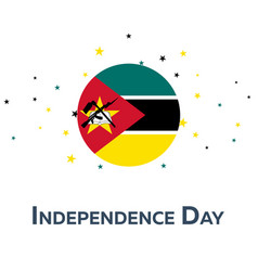 Independence day of mozambique patriotic banner vector