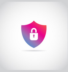 internet secure shield logo sign symbol icon vector image