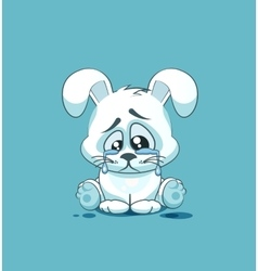 isolated Emoji character cartoon sad and vector image vector image