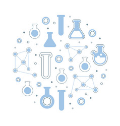 laboratory equipment seamless pattern circular vector image