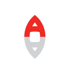 Letter a with shadow logo icon design vector