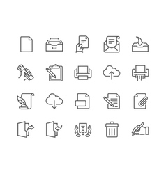 Line Document Icons vector