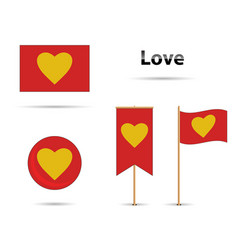 love flags vector image