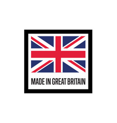 made in england isolated label for products vector image