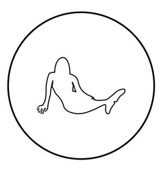 Mermaid icon black color in circle round vector