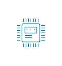 microprocessor linear icon concept microprocessor vector image