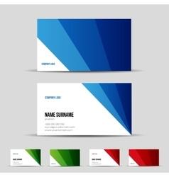 Modern business card template set vector image