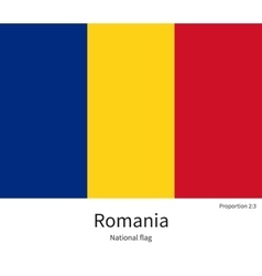 National flag of Romania with correct proportions vector