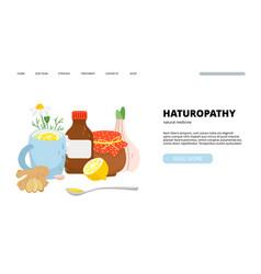 Naturopathy landing page vector