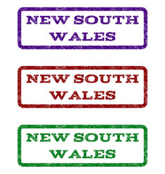 New south wales watermark stamp vector