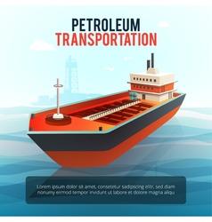 Oil Petroleum Transportation Tanker Isometric vector