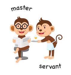 Opposite master and servant vector