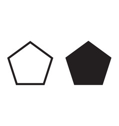 Pentagon icon five-sided polygon vector