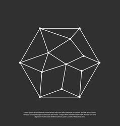 polygon network logo vector image