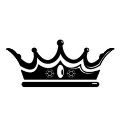 princess crown icon simple black style vector image
