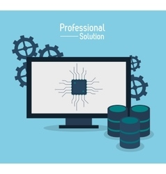 professional solution technology design vector image