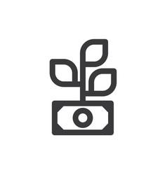 profit icon vector image