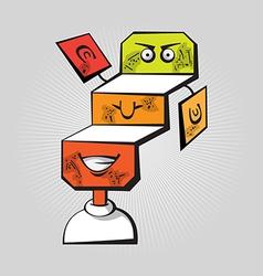 Puzzle Head vector image