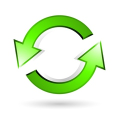 recycle arrow vector image