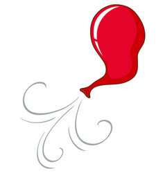 Red balloon blowing in air vector