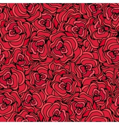 Red roses Seamless floral background vector