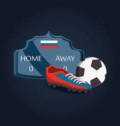 russia soccer world cup design vector image
