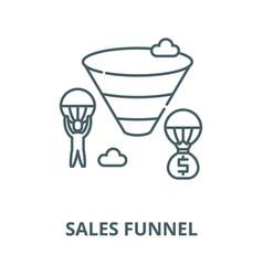 sales funnel line icon linear concept vector image