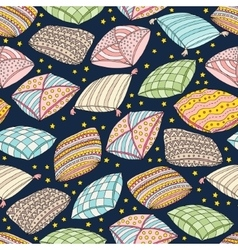 Seamless pattern with colorful pillows vector