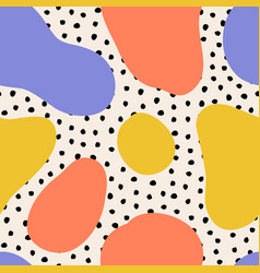 seamless pattern with polka dot elements and vector image