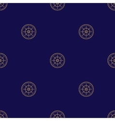 Seamless Pattern with Ships Wheel vector