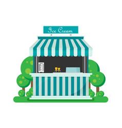 Shiny colorful ice cream shop vector