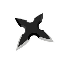 Shuriken star ninja blazing slash weapon ninjutsu vector