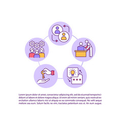 Smooth transition responsibilities concept vector